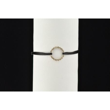 Bracelet cercle marcassite facettée et argent 925
