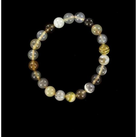 Bracelet perles de calcédoine.