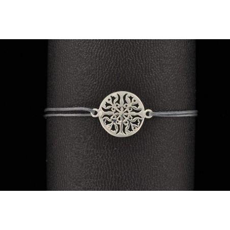 bracelet médaille ajourée