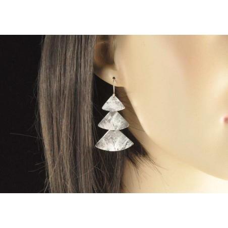 Boucles d'oreilles triangles argent 925.