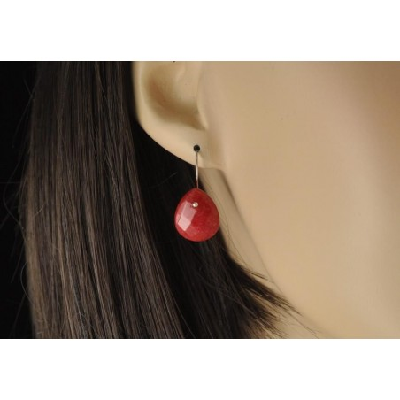Boucles d'oreilles jade colorés