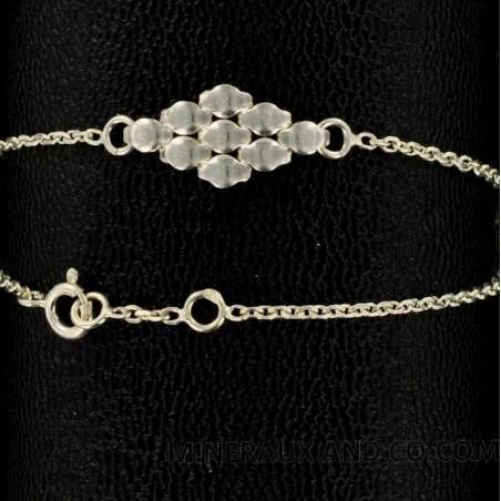 Bracelet argent maille souple