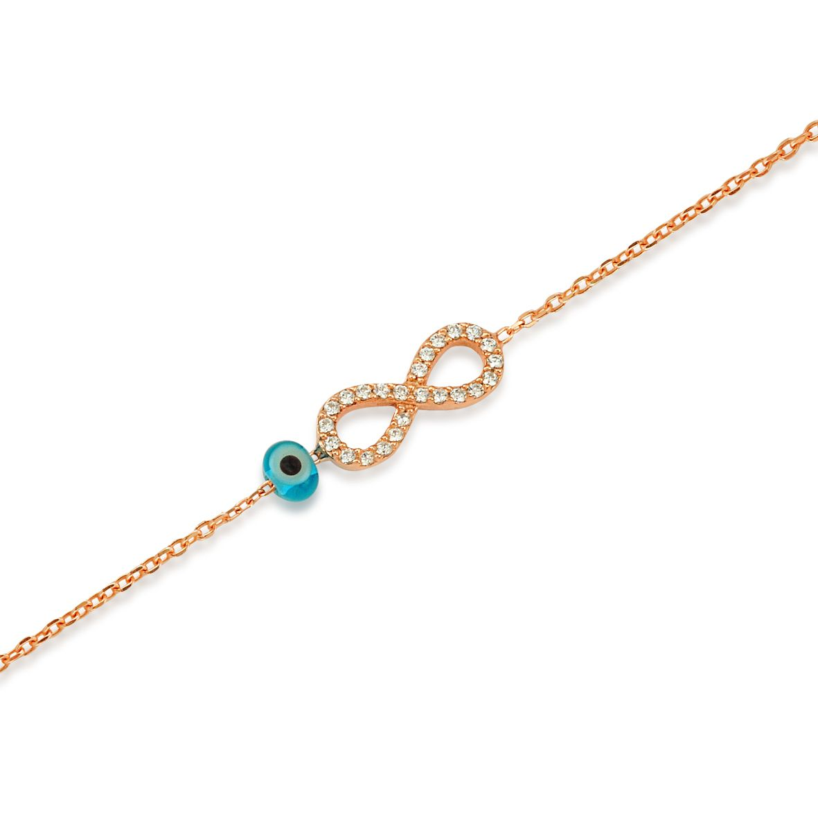 bracelet infini argent 925 plaqu or zirconium et perle bleue vo. Black Bedroom Furniture Sets. Home Design Ideas