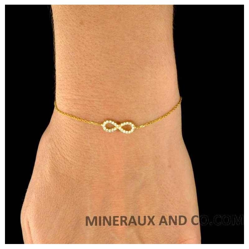 bracelet infini argent plaqu or bracelet infini. Black Bedroom Furniture Sets. Home Design Ideas