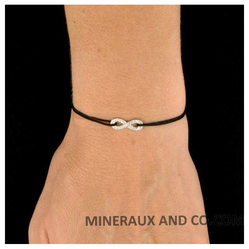 bracelet cordon infini zircon blanc bracelet infini zircons blancs. Black Bedroom Furniture Sets. Home Design Ideas