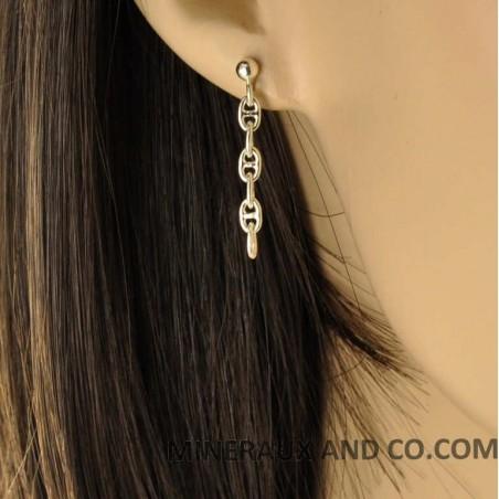 Boucles d'oreilles pendantes grains de café