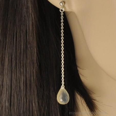 Boucles d'oreilles et pierre de lune