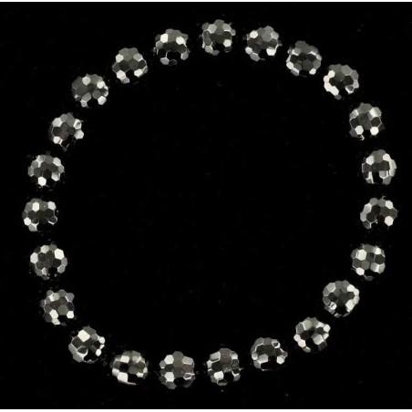 Bracelet pierre naturelle en onyx facetté.