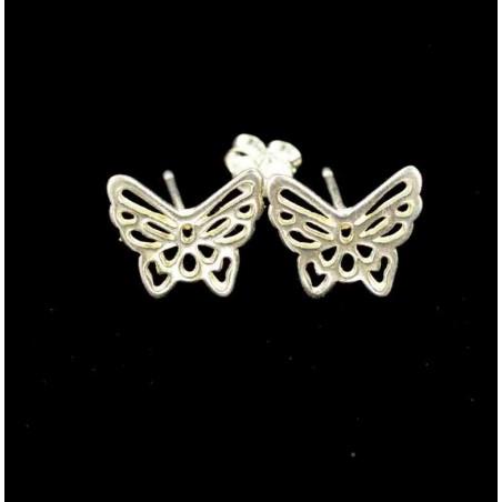 Boucles d'oreilles papillon argent 925.