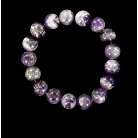 Bracelet perles d'améthyste