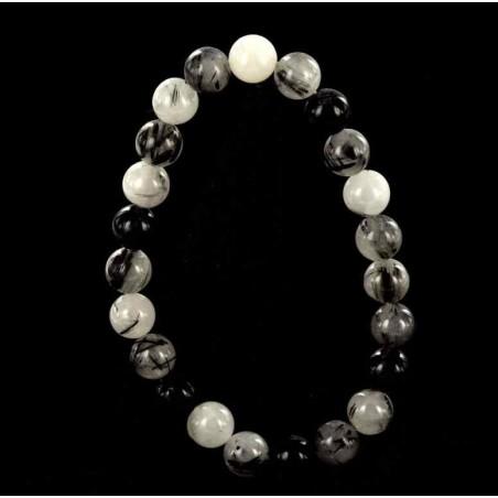 Bracelet quartz tourmaline.