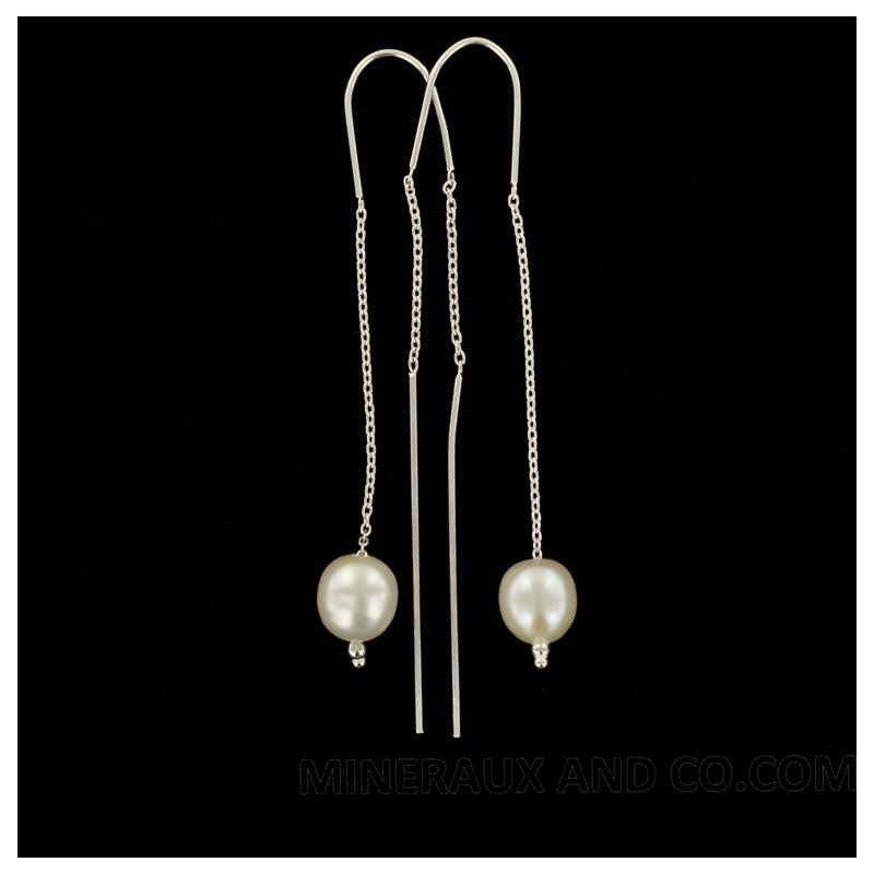 Boucles d'oreilles et perles d'eau.