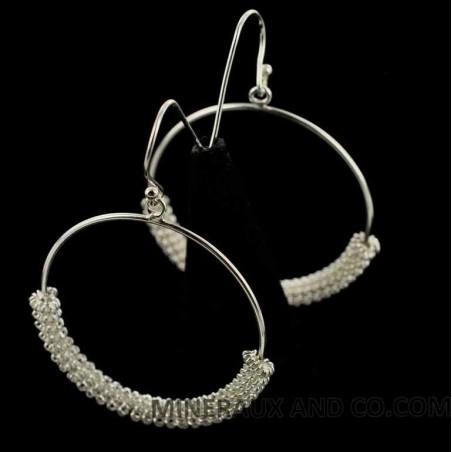 Boucles d'oreilles créoles serpentines