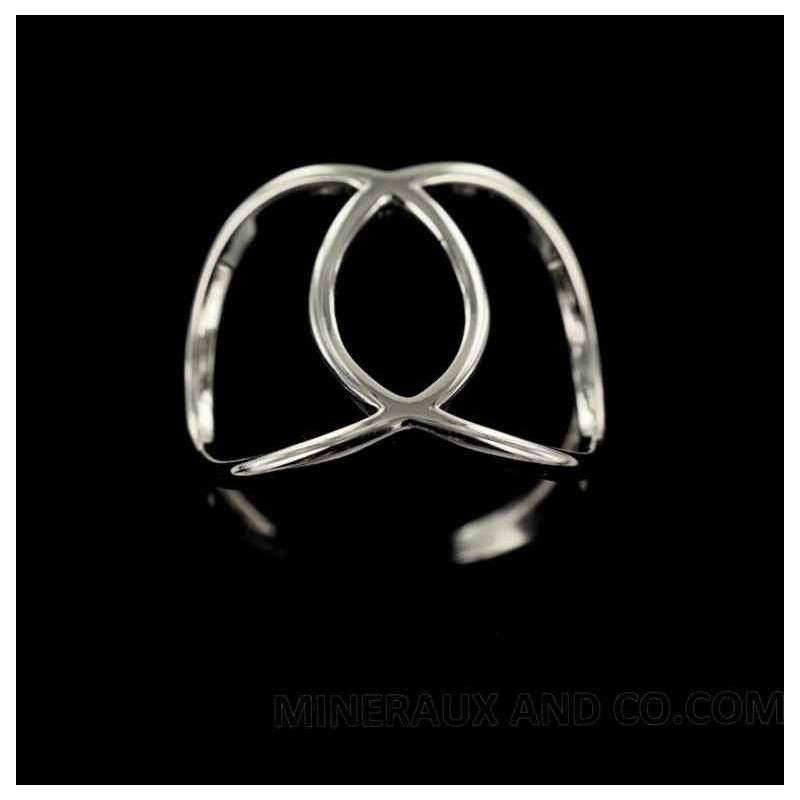 Bague deux cercles.