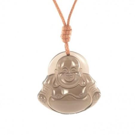 Bouddha obsidienne transparente.