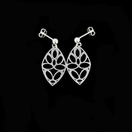 Boucles d'oreilles ovales argent 925.