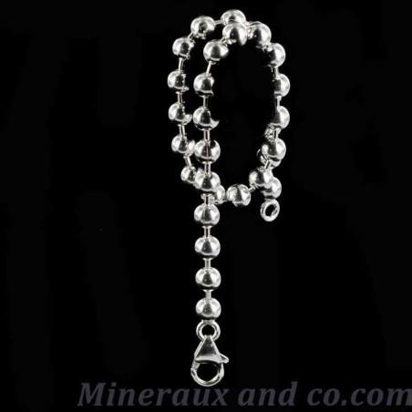 Bracelet chaîne boule argent 925.