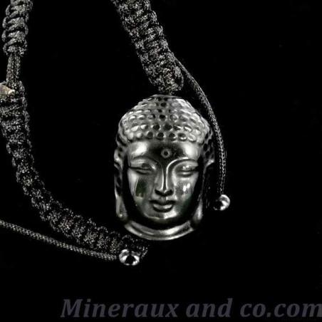 Bracelet bouddha obsidienne oeil céleste.