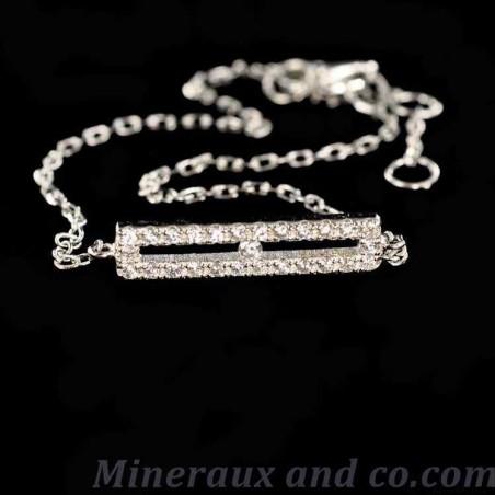 Bracelet argent et barrette