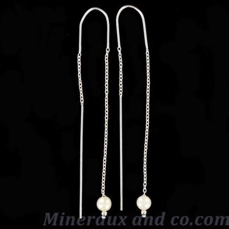 Boucles d'oreilles pendante perle