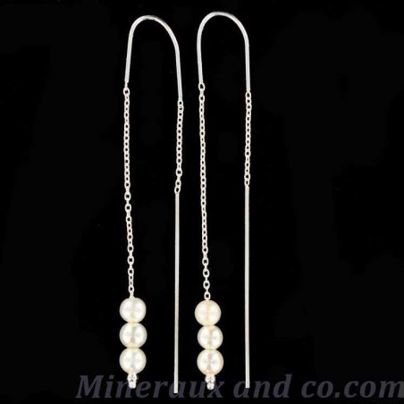 B-o chaînes pendantes et trois perles