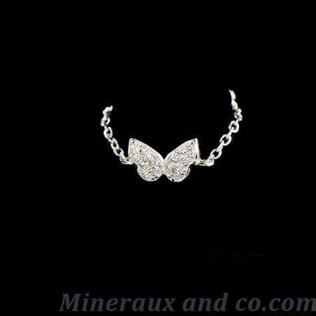 Bague chaîne papillon