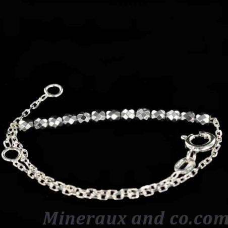 Bracelet hématite argentée