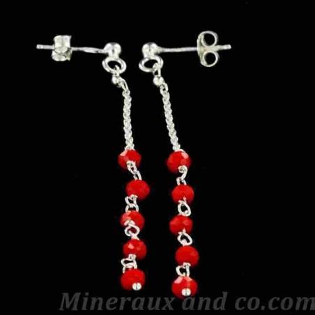 Boucles d'oreilles perle de verre