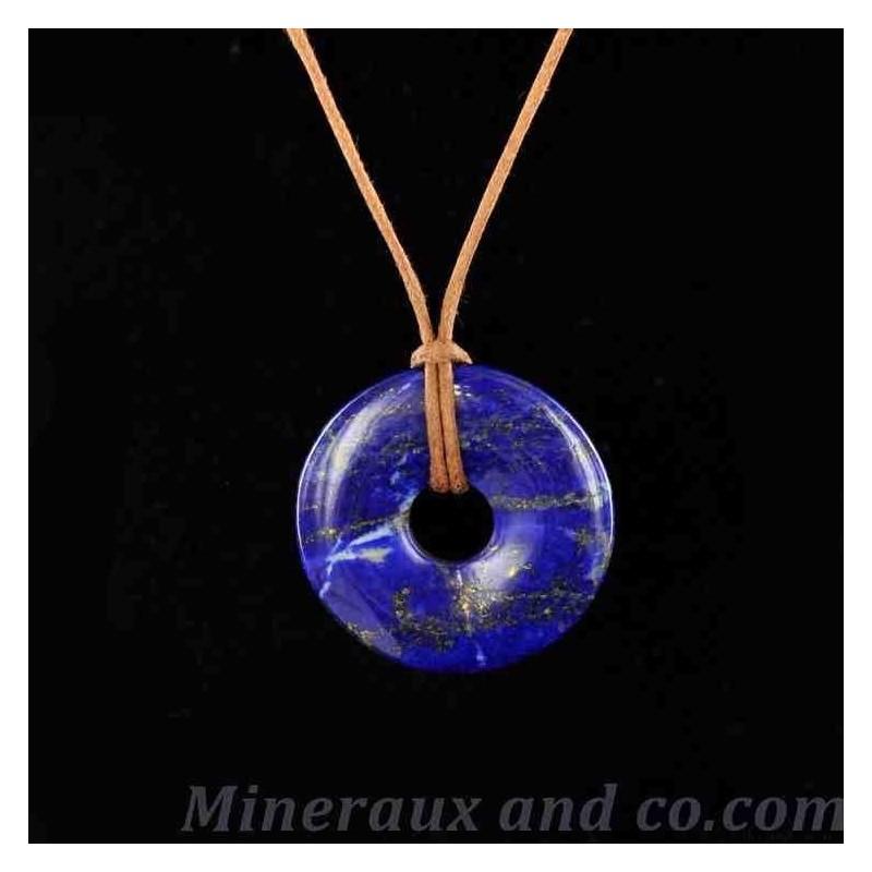 Pendentif donuts en Lapis-Lazuli