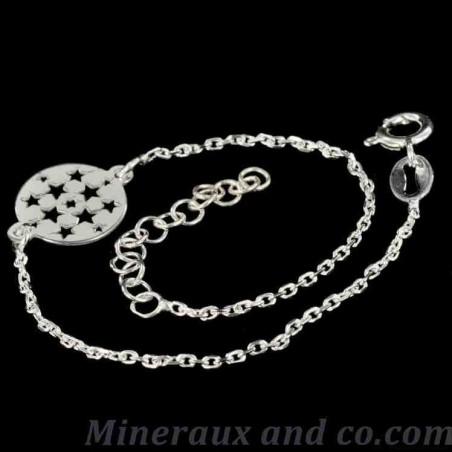 Bracelet chaîne et étoile argent