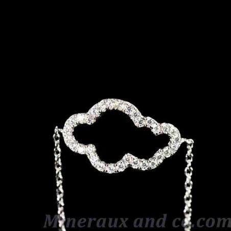 Bracelet chaine argent nuage