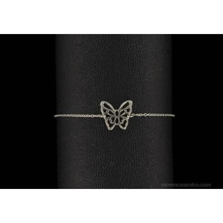 Bracelet papillon ajouré argent 925.