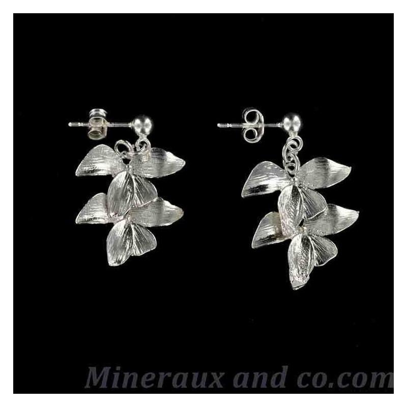 Boucles d'oreilles fleurs de lotus.
