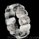 Bracelet quartz tourmaline rectangle.