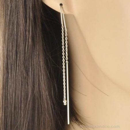 Boucles d'oreilles pendante argent