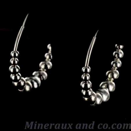 Créoles perles argent