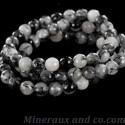 Bracelet quartz tourmaline facettée.