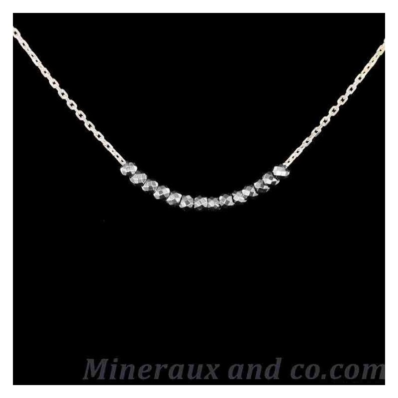 Collier chaîne perles hématite