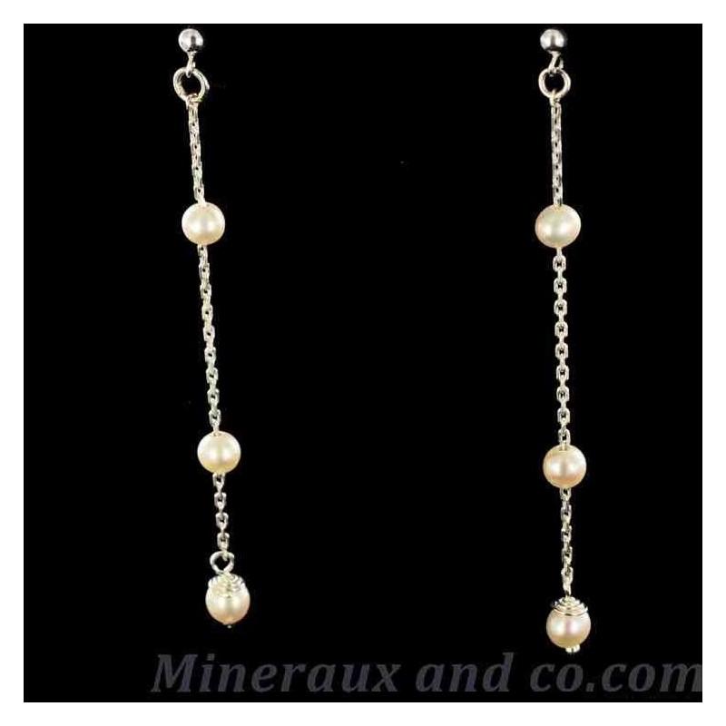 Fines b-o trois perles blanches