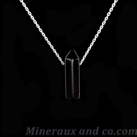 Pendentif onyx et chaîne argent