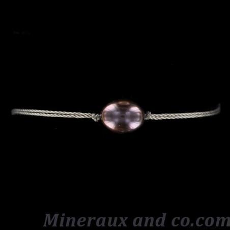 Bracelet perle de culture d'eau douce bleue-grise