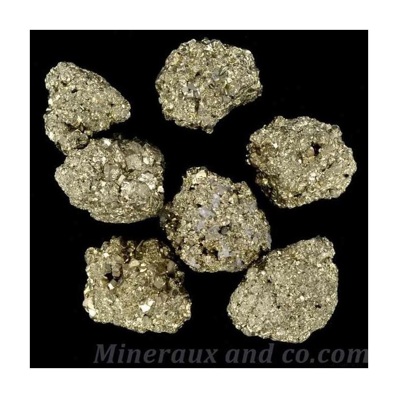 Lot de 7 pierres pyrites