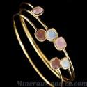 Bracelet plaqué pierre violette