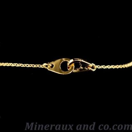 Bracelet menotte plaqué or.
