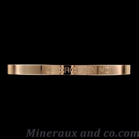 Bracelet plat plaqué à message
