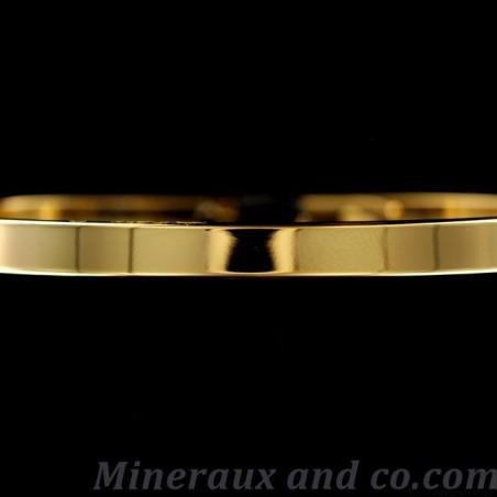 Bracelet plat plaqué or jaune