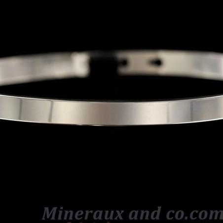 Bracelet plat argent