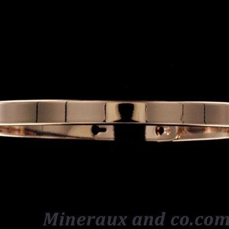 Bracelet plat plaqué or rose