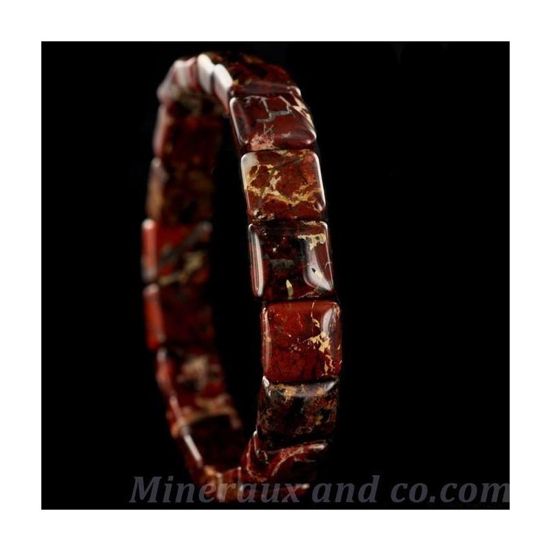 Bracelet jaspe bordeaux