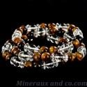Bracelet perle quartz et œil de tigre